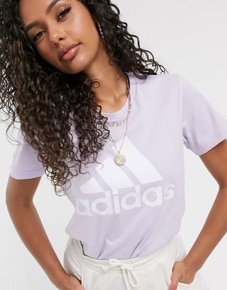 adidas Training T-Shirt With Badge Of Sports Purple