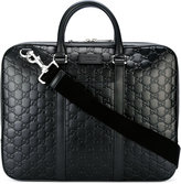 Gucci Leather Briefcase With Signature
