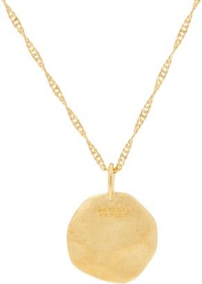 """Diamonique Motif Pendant with 18"""" Chain, 14K Gold Clad"""