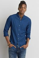 American Eagle Outfitters AE Indigo Print Button Down Shirt