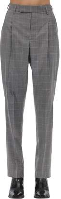 Zadig & Voltaire Zadig&Voltaire Straight Leg Check Wool Blend Pants
