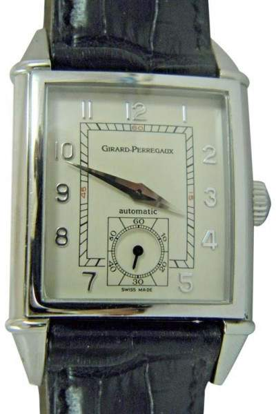 Girard Perregaux 2593 Stainless Steel & Leather Automatic 28.38mm Mens Watch
