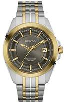 Bulova Men's Designer Watch Stainless Steel Bracelet - Two Tone Gold Precisionist Wrist Watch 98B273