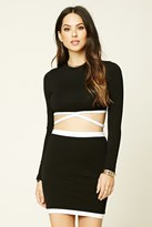 Forever 21 FOREVER 21+ Contrast Mini Skirt
