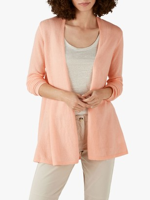 Pure Collection Cashmere Swing Cardigan, Peach Blush