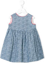 Oscar De La Renta Kids corduroy floral pinafore dress with underwear