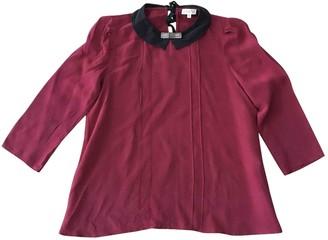 Claudie Pierlot Burgundy Silk Top for Women