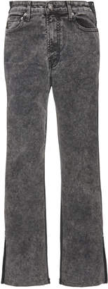 Proenza Schouler White Label Colorblock Flared Cropped Jeans