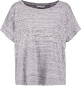 Maje Slub cotton-jersey T-shirt