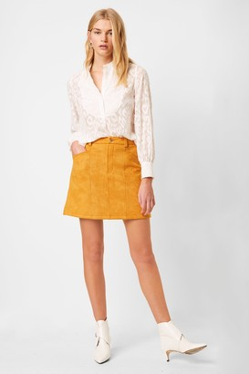 French Connenction Bahati Suedette Mini Skirt