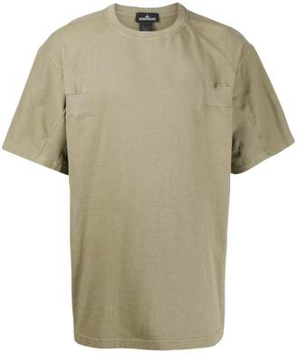 Stone Island Shadow Project ribbed-trim loose T-shirt