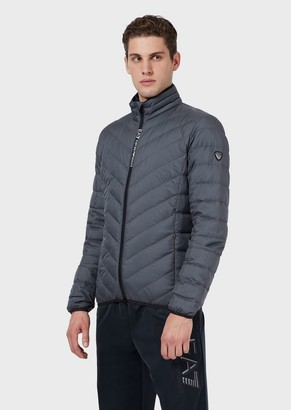 Ea7 Quilted, Padded Packable Jacket