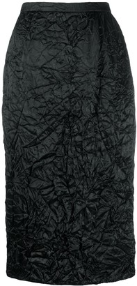 Rochas Crinkle Effect Pencil Skirt