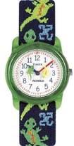 Timex Boys Time Machines Green Lizards Watch, Elastic Fabric Strap