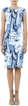 Nicole Miller Women's Faux Metal Midi Dress