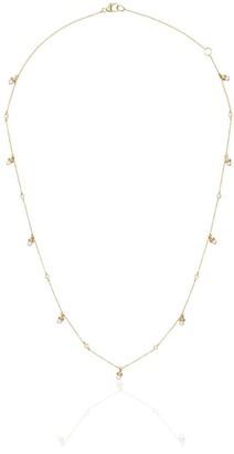 Dana Rebecca Designs 14K yellow gold, pearl and diamond charm necklace