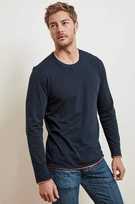 Velvet by Graham & Spencer Stephen Reversible Cotton Long Sleeve Tee