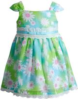 Youngland Baby Girl Floral Eyelet Dress