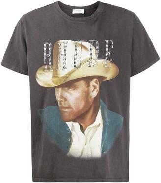 Rhude embellished portrait T-shirt