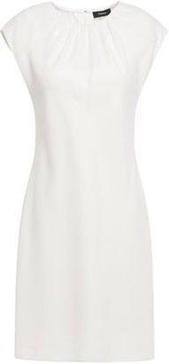 Theory Gathered Crepe Mini Dress