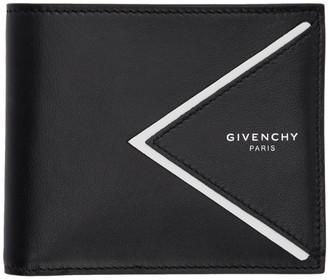 Givenchy Black V-Shape Cut Bifold Wallet