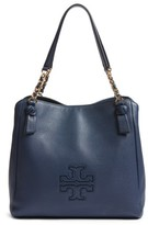 Tory Burch 'Harper' Leather Tote - Blue
