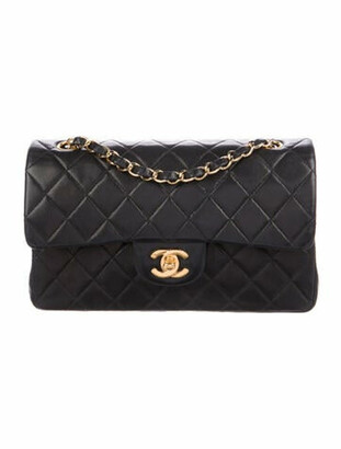 Chanel Vintage Small Classic Double Flap Bag Black