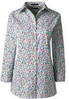 Lands' End Women's Plus Size 3/4 Sleeve Pattern Broadcloth Shirt-Coral Blush Floral