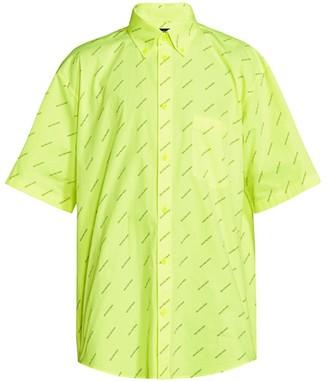 Balenciaga Florescent Logo-Print Shirt