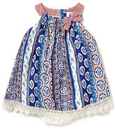 Rare Editions Baby Girls 3-24 Months Printed Vertical-Stripe A-Line Dress