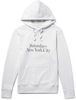 Saturdays NYC Ditch Miller Printed Loopback Cotton-Jersey Hoodie