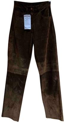 Prada Brown Suede Trousers