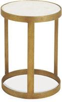 Maitland-Smith Petrified Wood Round Side Table, Gold