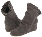 80%20 - Dani Ruffle Hidden Wedge Boot (Thunder Cow Suede Leather)