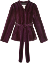 Pologeorgis The Wrap Deep Purple Fur Coat