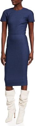 Victoria Beckham Fitted Midi Shirtdress