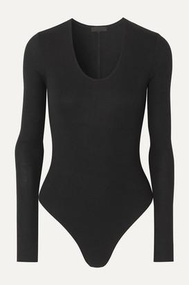 ATM Anthony Thomas Melillo Stretch-micro Modal Thong Bodysuit - Black