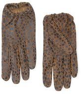 MANGO Animal print suede gloves