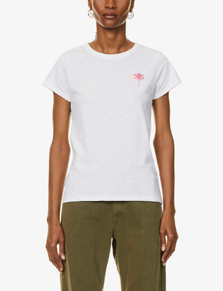 Rag & Bone Triple Palm Tree-printed cotton-jersey T-shirt