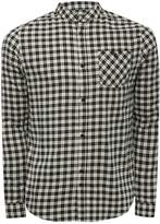 M&Co D-Struct Grandad Collar Checked Shirt