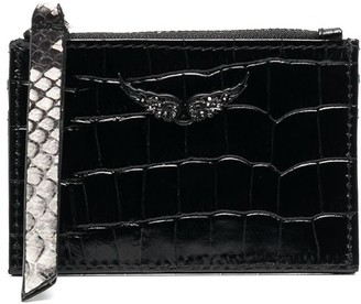Zadig & Voltaire Crocodile Embossed Purse