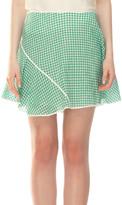 Max Studio Gingham Flirty Skirt