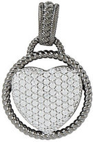 Judith Ripka As Is Sterling 0.34 ct Pave Diamonique Heart Enhancer