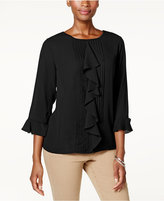 Charter Club Ruffled Pintuck Top, Created for Macy's