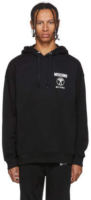 Moschino Black Double Question Mark Hoodie