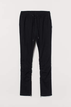 H&M Joggers with Zips - Black