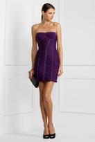 Strapless Shirred Dress
