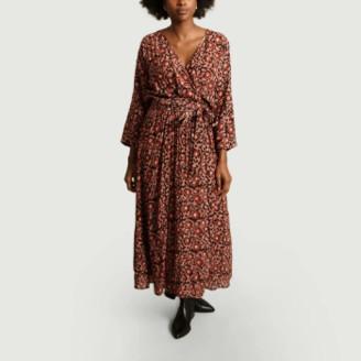 Swildens Bordeaux Plum Print Dress - 36