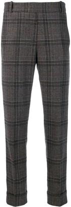 Kiltie Check Print Trousers