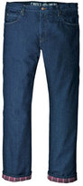 """Dickies Men's Relaxed Straight Fit Flannel-Lined Jean 34"""" Inseam"""
